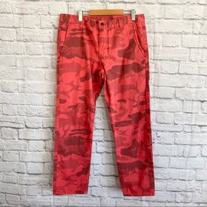 DOCKERS Alpha Khaki Red Camo Camouflage Pants